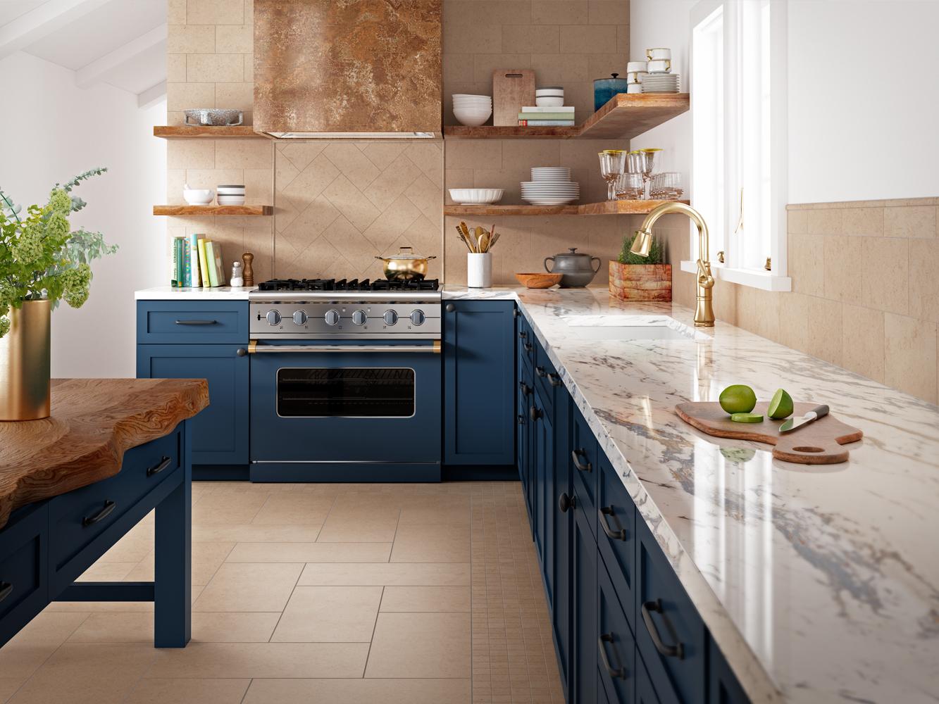 Tan Tile Kitchen