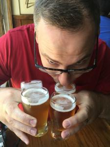 danny drinking beer